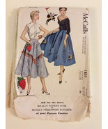 1950's McCall's 1851 Misses Semicircular Skirt One Size - $45.00