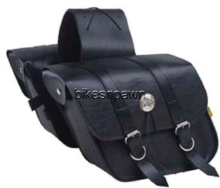 New Willie & Max Deluxe Compact Slant Saddlebags Quick Release Yoke SB707-05