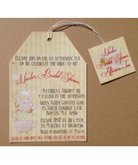 Vintage Tea Party Invitation: Personalized, Tea Bag with Tag Style - $1.25