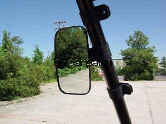 """New Seizmik Side View Mirror Can AM Commander, Mule 600/4000, Teryx 2"""" Clamp"""