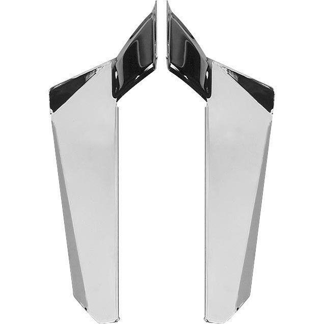 Chrome Lower Deflectors for Switchblade Windshield Kawaskaki  1600 Vulcan