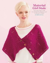 W954 Crochet PATTERN ONLY Material Girl Stole Wrap Shawl Pattern - $7.50