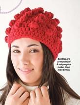 Y067 Crochet PATTERN ONLY Bobble Hat Stocking Cap Pattern - $7.50