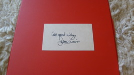 "SIGNED  AUTOGRAPH  OF   JERRY  LEWIS   ON  "" 3 X 5""  INDEX CARD   !! - $99.99"