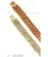 Y346 Bead PATTERN ONLY Beaded Crystals Bead Tennis Bracelet Pattern - $7.50