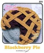 X339 Crochet PATTERN ONLY Annies Attic Sweet Dreams Blackberry Pie Black & W - $10.50