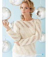 Y385 Crochet PATTERN ONLY Ladies Icicles Pullov... - $13.45