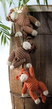 X973 Crochet PATTERN ONLY Hanging Monkey plus Baby Blanket & Turtle Floa... - $7.50