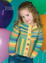 W895 Crochet PATTERN ONLY Child's Raglan Sleeve Coat Sweater Pattern - $9.50
