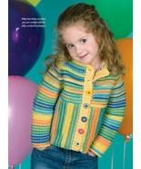W895 Crochet PATTERN ONLY Child's Raglan Sleeve Coat Sweater Pattern - $9.50