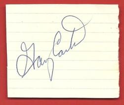 "GARY  CARTER   ORIGINAL   AUTOGRAPH   SIGNED   "" 4 X  2.5 ""   CUT    !! - $29.99"