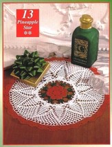 Y044 Crochet Pattern Only Christmas Pineapple Star Doily - $7.50