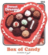 X886 Crochet PATTERN ONLY Annie's Attic Sweet Dreams Box of Candy Black ... - $10.45