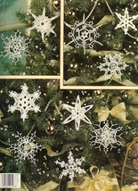 X218 Crochet PATTERN ONLY It's Snowing! Dimensional Snowflakes Christmas Pattern - $11.50