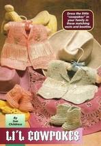 Y177 Crochet PATTERN ONLY Li'l Cowpokes Cowgirl & Cowboy Boots Vest Pattern - $7.50