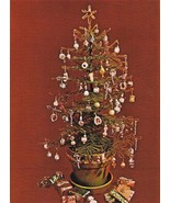 Y203 Bead PATTERN ONLY Beaded Mini Spruce Tree + Christmas Ornaments Pat... - $20.50