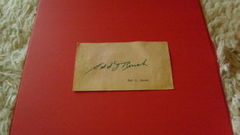 "VINTAGE  SIGNED  AUTOGRAPH  OF   EDD  J  ROUSH   ON  "" 3 X 5""  CUT   !! - $34.99"