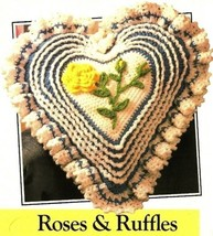 X140 Crochet PATTERN ONLY Roses and Ruffles Pillow Pattern - $7.50
