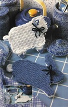 Y011 Crochet PATTERN ONLY Bunny & Lamb Reversible Potholders Pattern - $8.50