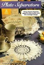 X949 Crochet PATTERN ONLY Plate Separators Wedding Bride Bridal China Pattern - $7.50