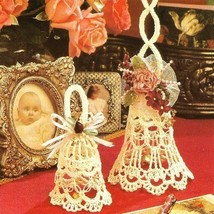 Y149 Crochet PATTERN ONLY 2 Frilly Bell Christmas Ornaments Wedding Pattern - $9.50
