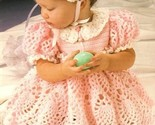 Y229 Crochet PATTERN ONLY Sweet Baby Easter Dress Bonnet & Purse Outfit Patt