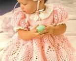 Y229 Crochet PATTERN ONLY Sweet Baby Easter Dress Bonnet & Purse Outfit Patt