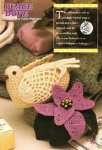 Y466 Crochet PATTERN ONLY Peace Dove & Flower Soap Cover Pattern - $8.50