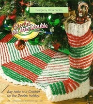 X263 Crochet PATTERN ONLY Christmas Tree Skirt & Stocking Pattern - $7.50