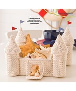 X200 Crochet PATTERN ONLY Summer Sand Castle Basket with Drawbridge & Tu... - $9.50