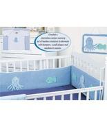 Y119 Crochet PATTERN ONLY Ocean Creatures Nursery Set Crib Bumper Patterns - $9.50