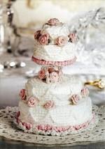 Y588 Crochet PATTERN ONLY Miniatue 4 Tier Wedding Cake Pattern - $9.50