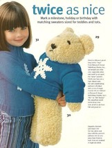 X444 Crochet PATTERN ONLY Loopy Scarf Set & Big Teddy + Outfits - $10.50