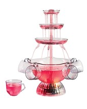Vintage Lighted Fountain Party Cups Set Table Cascading Tower Decor LED ... - £19.75 GBP