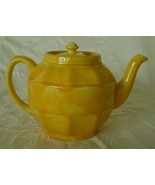 Teapot, Sadler, Yellow Ceramic, Crazing, English-Made  - $10.00