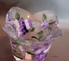 Hand Painted, Signed Tulip Votive Candle Holder New  image 2
