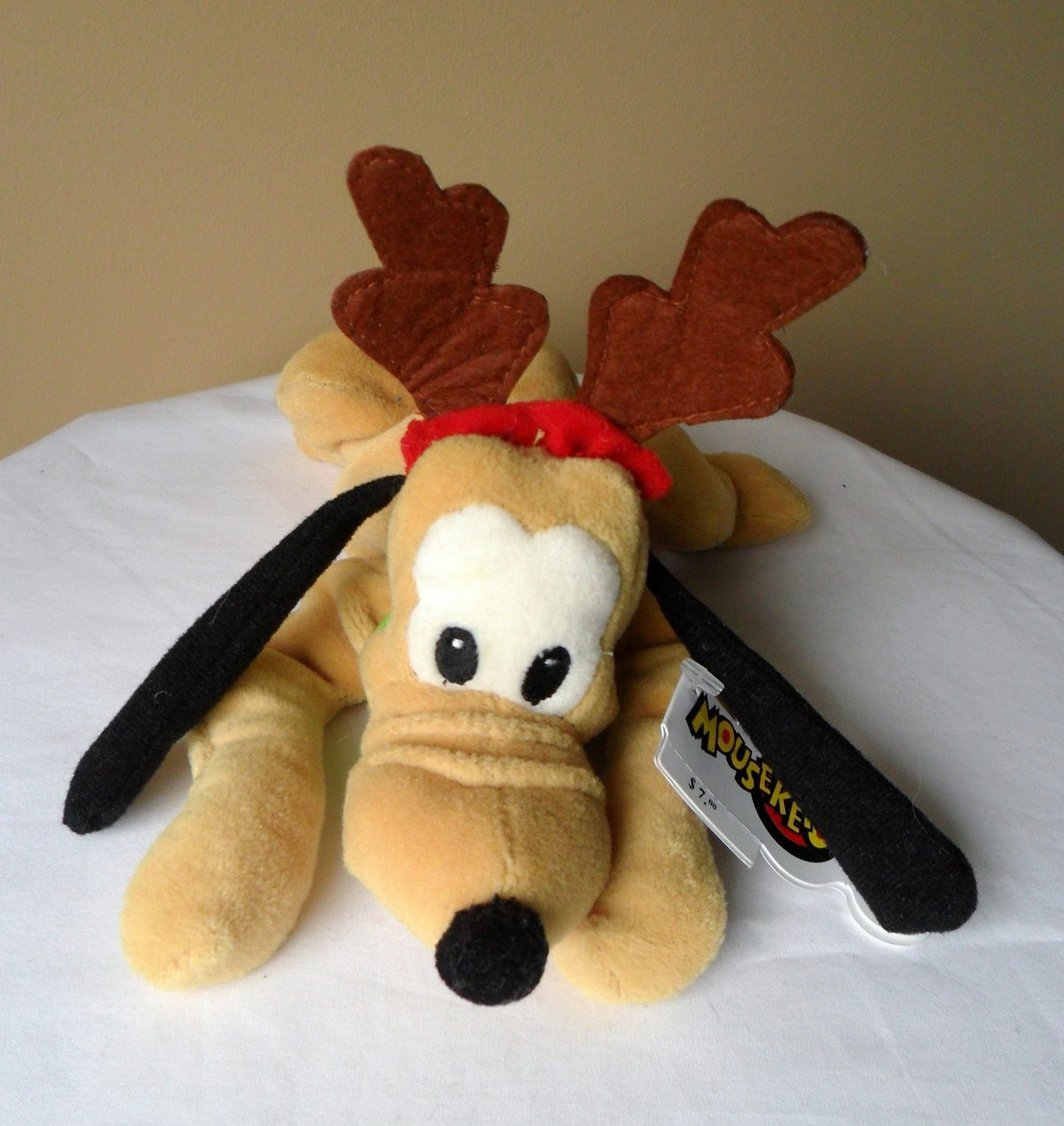 Christmas Toys Disney : Disney mouseketoys pluto reindeer antler quot bean bag plush