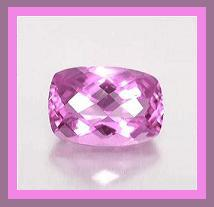Alexandrite color change from grayish green inside to pink lavender outside long cushion cut checkerboard 1.09ct 8x6mm 1
