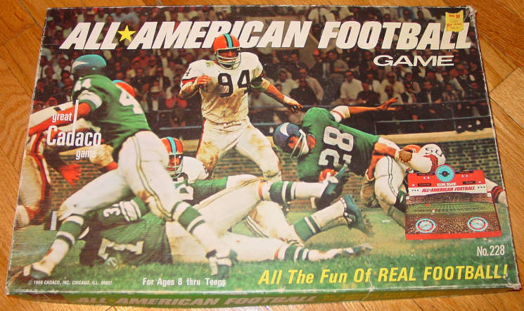 ALL AMERICAN FOOTBALL GAME 1965 CADACO COMPLETE EXCELLENT - $20.00