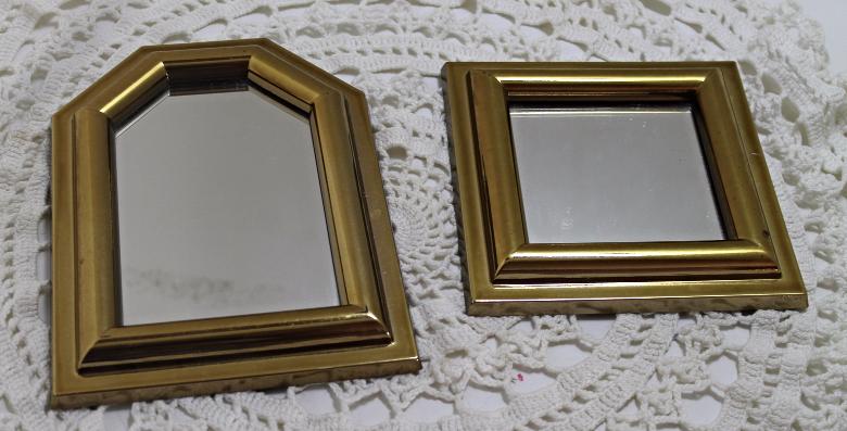 Vintage BURWOOD PRODUCT CO. Gold Frame Mirror Set