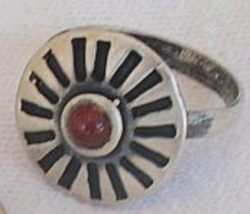 Oxidized red silver ring thumb200