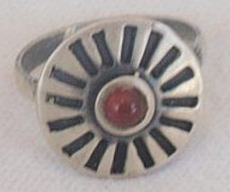 Oxidized red silver ring 2 thumb200