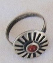 Oxidized red silver ring 3 thumb200