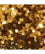 3mm Flat SEQUIN PAILLETTES ~ GOLD Metallic ~ Made in USA. - $6.98