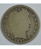 1897 S Barber circulated silver quarter - $60.00