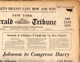 New York, Herald Tribune -Newspaper November 27, 1963 - $4.50