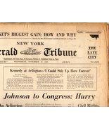 New York, Herald Tribune -Newspaper November 27, 1963 - $4.50