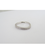 Vintage Sterling Silver Genuine Diamond Band Ring Size 9.5 - $30.00