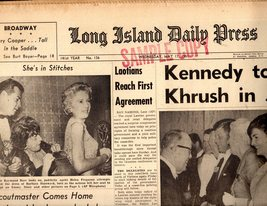 Long Island Daily Press Newspaper Wednesday, May 17, 1961 - $4.90