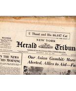 New York, Herald Tribune -Newspaper May 17, 1962 - $4.90